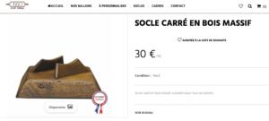 Une copie d'écran du site 1930sportvintage qui propose des produits d'artisanat Français qui n'en sont pas