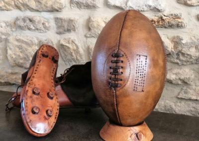 Décoration vintage de rugby
