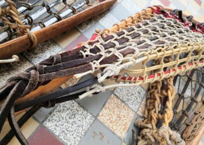 Macro sur les anciennes crosses de Lacrosse