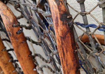 Bois très vieux sur une crosse de Lacrosse