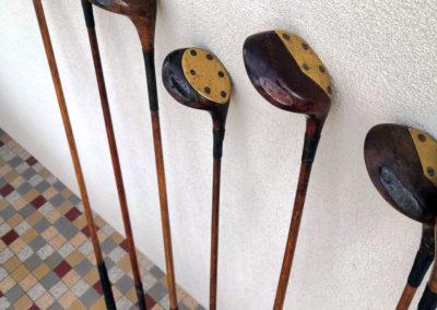 Collection de clubs de golf