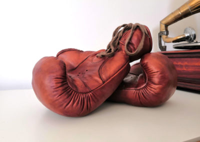 Vue de gants de boxe style John Woodbridge