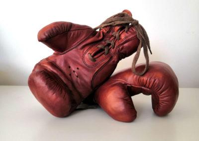 Style John Woodbridge pour une paire de gants de boxe de déco