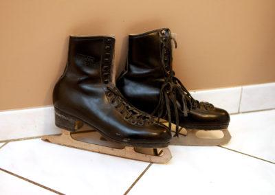 Patins anciens de patinage artistique