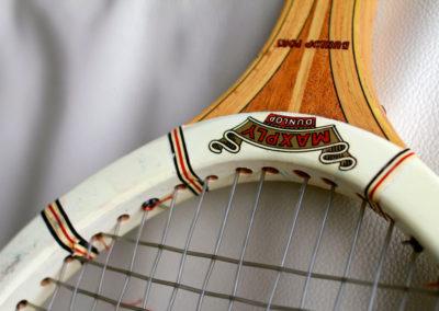 Cadre de l'ancienne raquette de tennis Dunlop Maxply