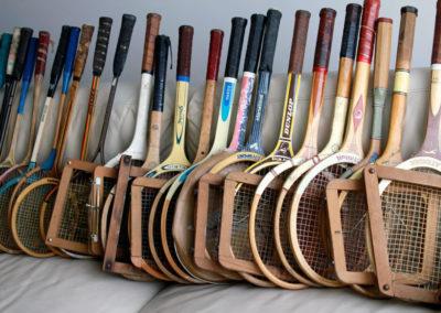 Lot de raquettes de tennis anciennes à vendre