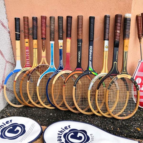 Anciennes raquettes de tennis en bois