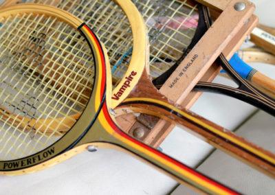 Anciennes raquettes de badminton Vampire et Powerflow