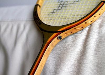 Ancienne raquette de badminton