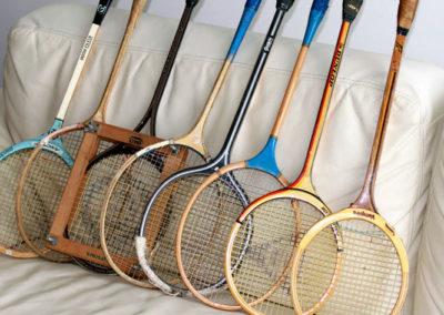 Lot raquettes de badminton anciennes (vintage)