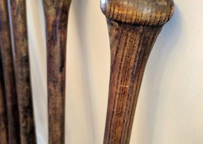 Manche de la batte de baseball en bois vintage