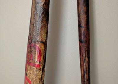 Manche de 2 crosses de hockey anciennes