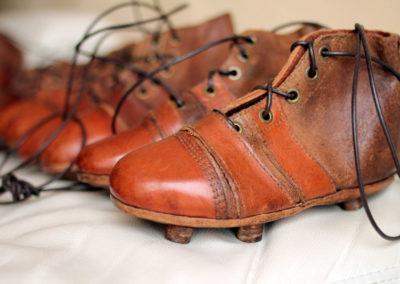 Macro sur nos chaussures de rugby enfant