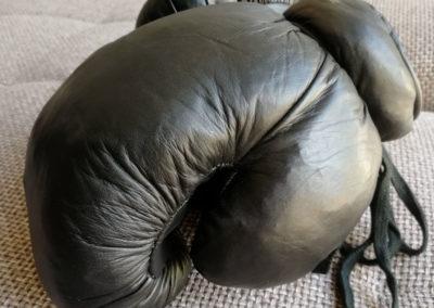 Gants de boxe vintage couleur noir