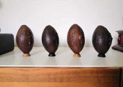Collection de ballons de rugby enfant