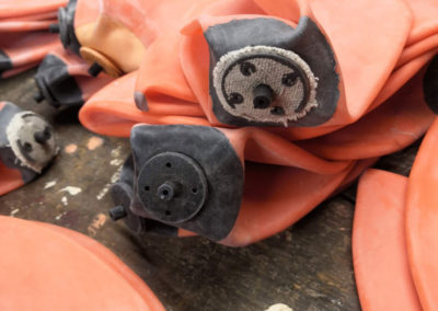 Photo de la valve d'une vessie de ballon de foot