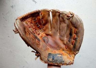 Un ancien gant de baseball