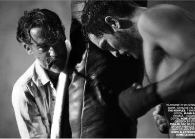 Photos du magazine Lui en noir et blanc