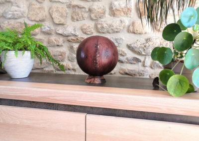 Idée décoration avec un ancien ballon de basket