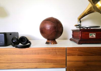 Ballon de basket en décoration vintage